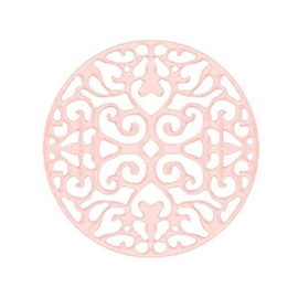 Bohemian tussenstuk rond 23mm Light rose