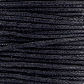 Waxkoord 1.0 mm Zwart