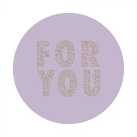 Sticker ''For You'' Lila