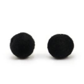Velvet pompom kralen 6mm Black