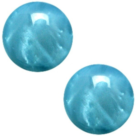 Polaris cabochon 20mm Mosso shiny Dark scuba blue