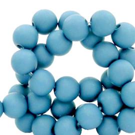 Acryl kralen mat Cornflower blue 6mm