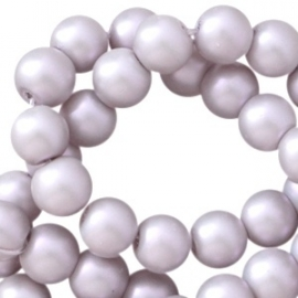 Glasperlen silber grey pearl shine 6mm