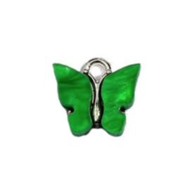 Bedel vlinder groen zilver