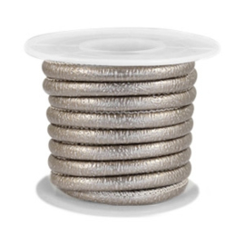 Leer imi 4x3mm sparkle grey champagne metallic