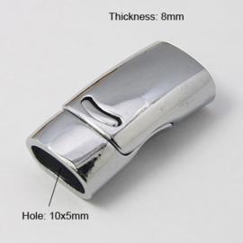 Magneetslot ovaal zilver