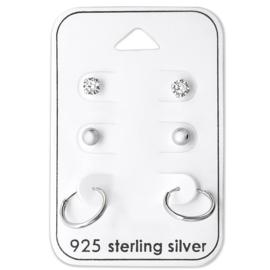 Minimalistic hoop set - echt zilver