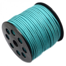 Suede cord dark turquoise 3mm