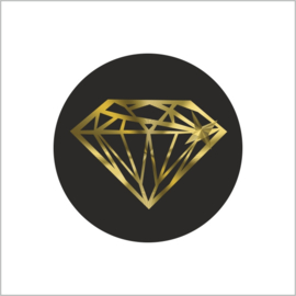 Sticker Diamant gold