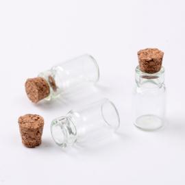 Glazen flesje klein 18mm