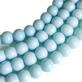 Glaskraal baked baby blue 6mm