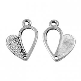 Bedel / tussenzetsel hart half open zilver