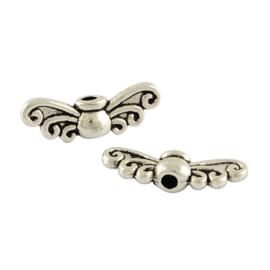 Vleugeltjes kralen klein zilver