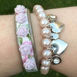 Inspiratie armbandjes 'heart flower'