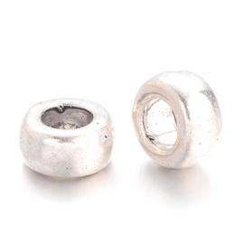 Metall perlen ring silber 6mm