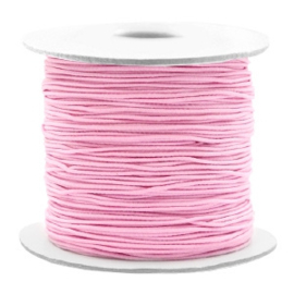 Elastiek licht roze 1mm