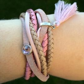 Inspiratie armband 'gevlochten leer'