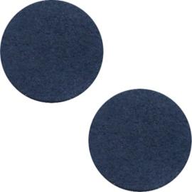 Leer cabochons dark denim blue 12mm (DQ)