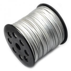 Suede kabel silber shine
