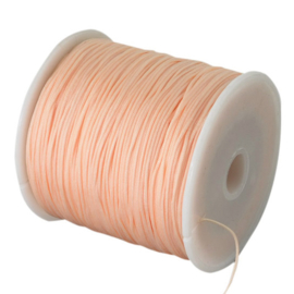 Macrame satijn koord peach 0.8mm