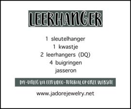 Leerhanger DIY pakket blauw/beige
