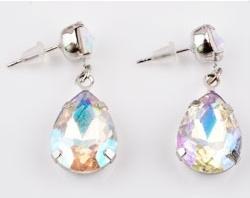Oorstekers hanger crystal