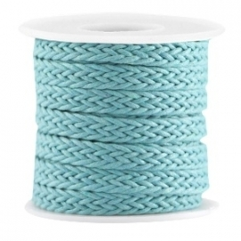 Braided wachsband dark aqua blue