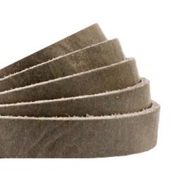 Plat 10 mm DQ leer Beluga grey-taupe