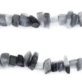 Chips stone kralen Anthracite grey