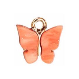 Bedel vlinder coral goud
