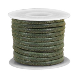 Leer imi 4x3mm dark moss green