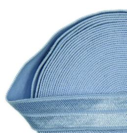 Elastiek cornflower blue 15mm