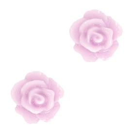 Roosjes kralen 10mm Lilac pink