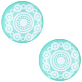 Cabochon turquoise green 12mm