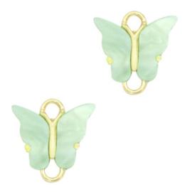 Tussenzetsel vlinder Gold-light green