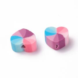 Katsuki kralen heart pruple pink Multicolor