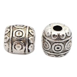 Metalen kraal tibet zilver