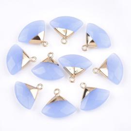 Bedel facet gemstone jade blue triangle gold