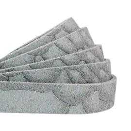 Plat 10mm DQ leer suède Reptile Slate grey