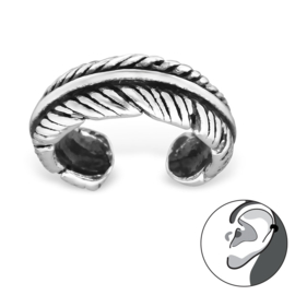 Ear cuff feather - 925 silver