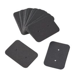 Oorbellen kaartje zwart
