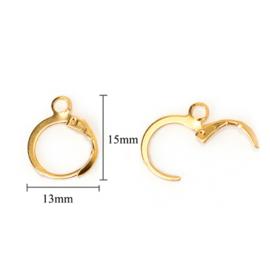 Basis hoop oorbellen goud