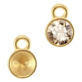 Setting voor SS24 puntsteen goud (nikkelvrij) (DQ)