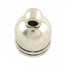 Eindkapje tibetaans 6mm zilver