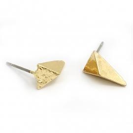 Oorbellen triangle goud