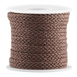 Woven waxcord chocolate brown