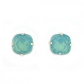 Oorbellen swarovski zeegroen blauw