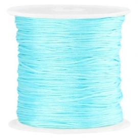 Macramé band 0.7mm aqua blue