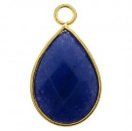 Charme jade facette blau gold