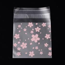 Plastic verpakkingszakjes floral 10x10cm